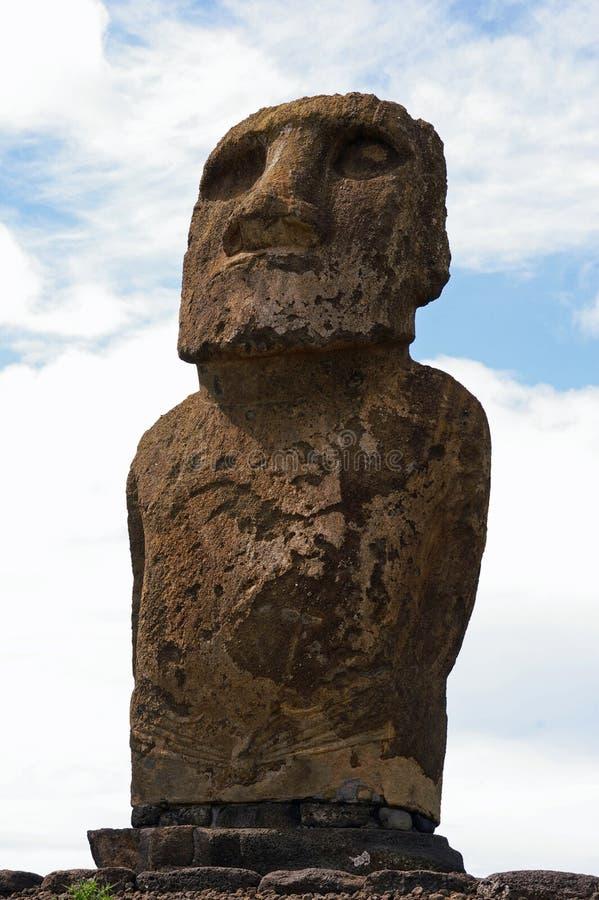 tongariki för staty för ahueaster ö fotografering för bildbyråer