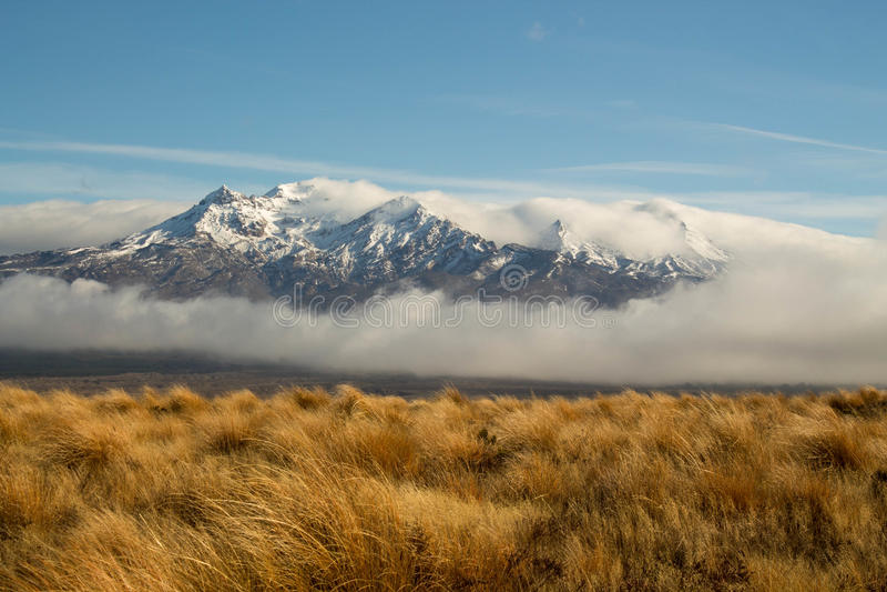 Tongariro山伟大的沙漠路 免版税库存照片