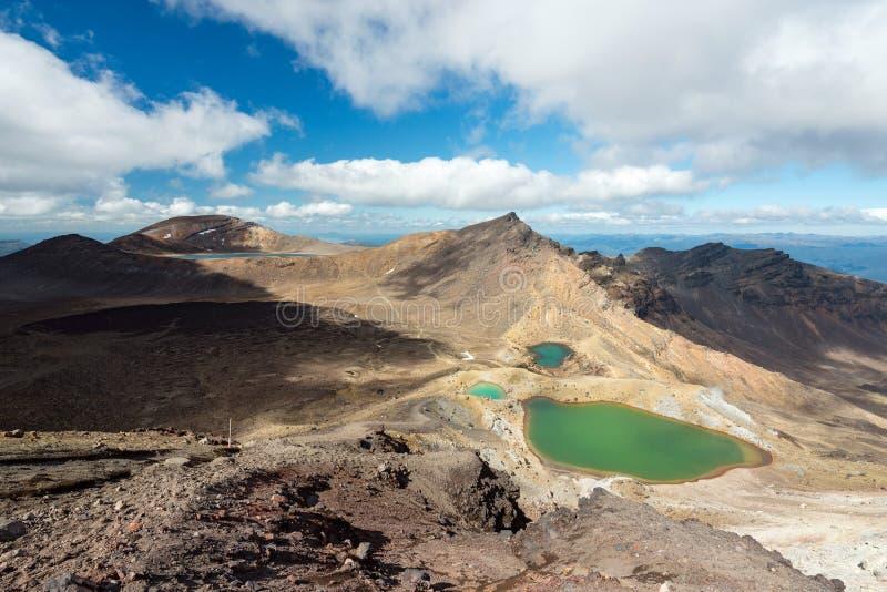 Tongariro高山横穿轨道,新西兰 免版税库存照片