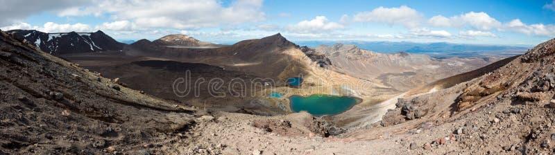 Tongariro高山横穿轨道,新西兰 免版税库存图片