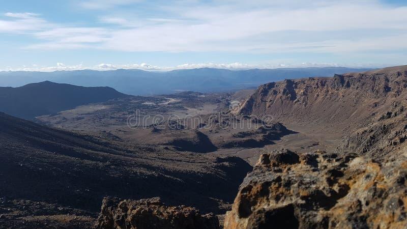 Tongariro高山横穿 新西兰 库存图片