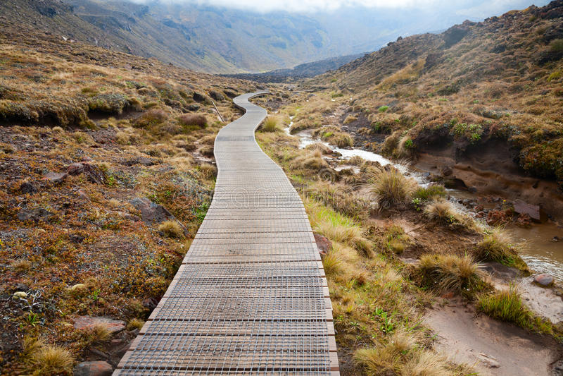 Tongariro高山横穿 库存照片