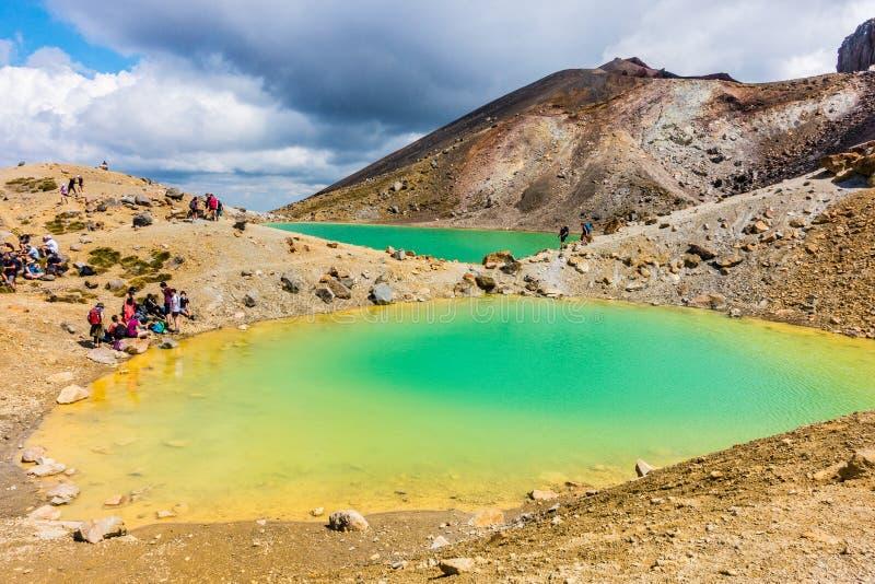 Tongariro Alpejski skrzyżowanie - Szmaragdowy jezioro obraz royalty free