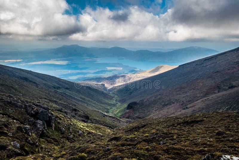 Tongariro Alpejski skrzyżowanie - Tongaririo park narodowy obraz stock