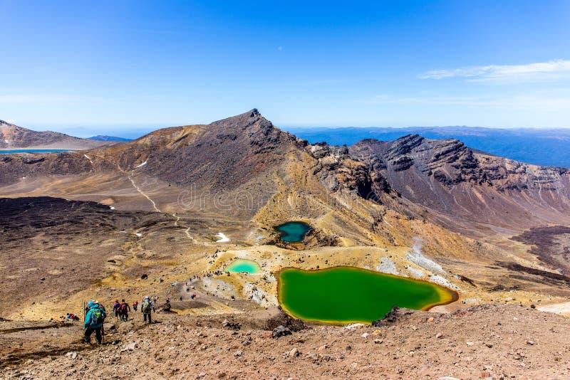 Tongariro alpin korsning, Nya Zeeland royaltyfria bilder