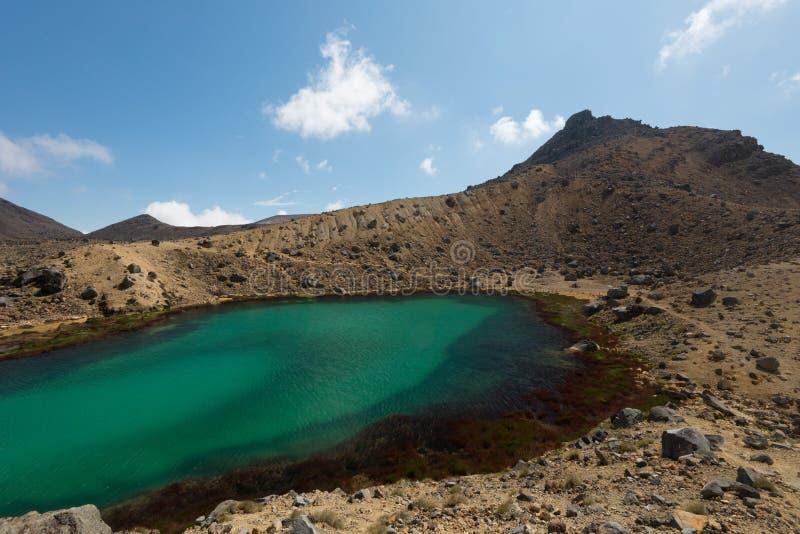 Tongariro alpina korsa Nya Zeeland fotografering för bildbyråer
