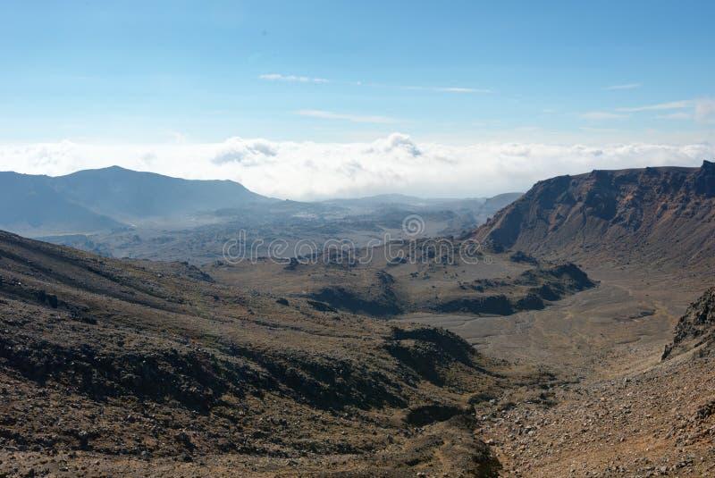 Tongariro alpina korsa Nya Zeeland royaltyfria foton
