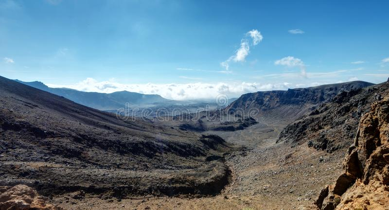 Tongariro alpina korsa Nya Zeeland royaltyfri foto