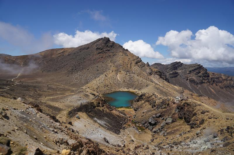 Tongariro alpine crossing stock images