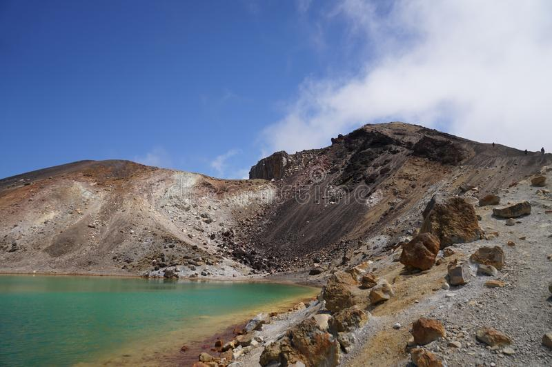 Tongariro alpine crossing stock photography