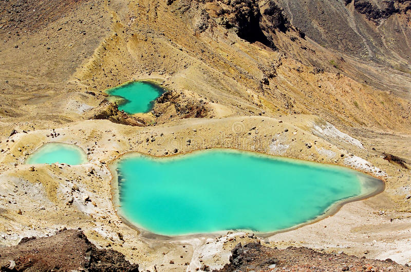 Tongariro Emerald Lakes, New Zealand Stock Images