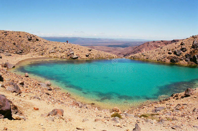 Tongariro lakes, New Zealand royalty free stock photo