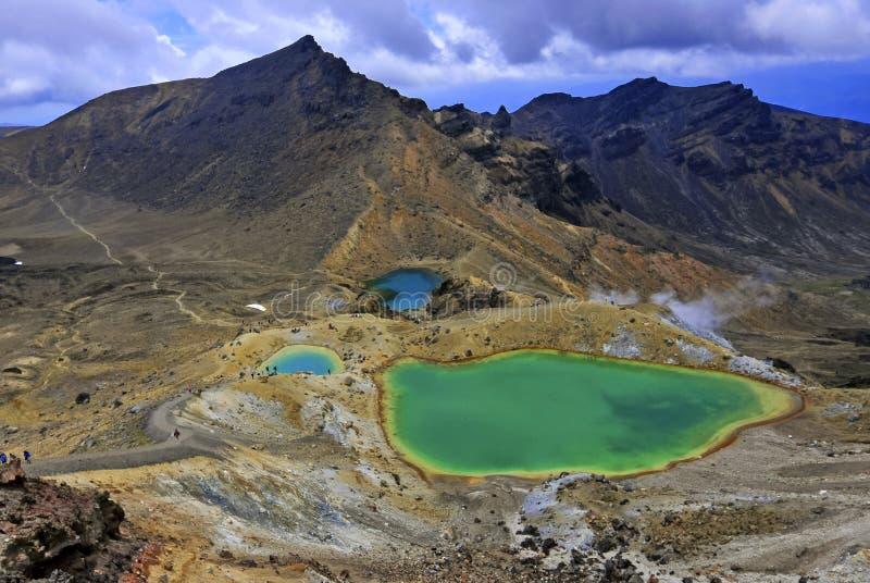 Tongariro Nationaal Park, het Noordeneiland, Nieuw Zeeland stock afbeeldingen