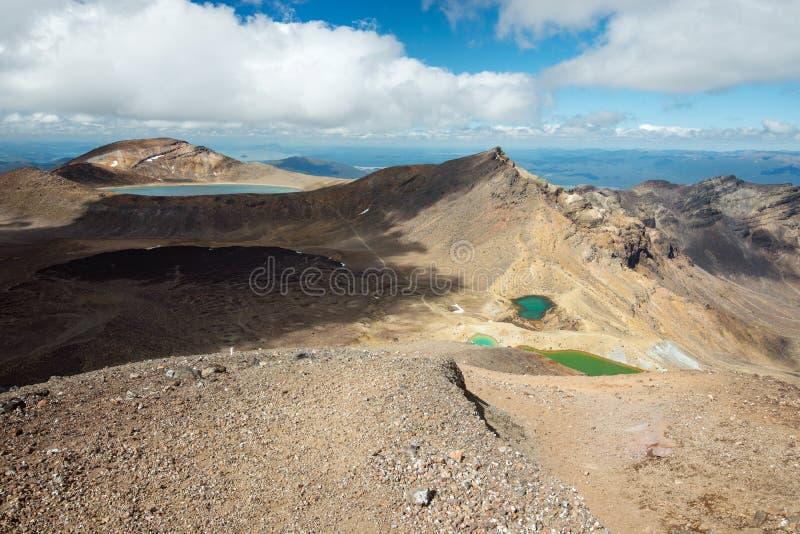 Tongariro nationalpark i Nya Zeeland royaltyfria foton