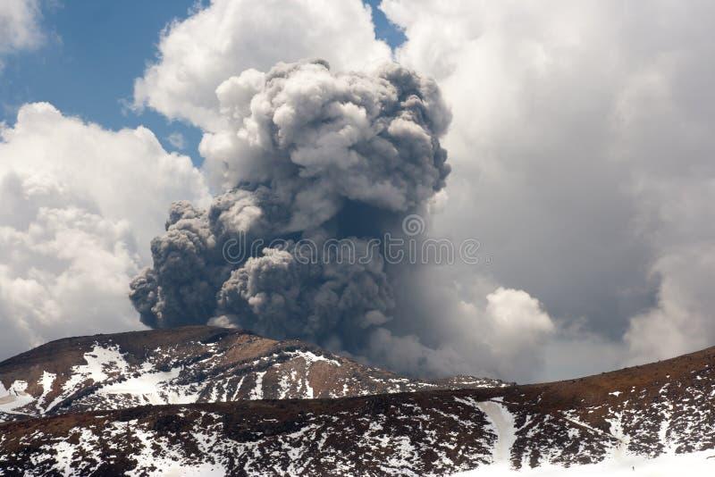 Tongariro Powulkaniczna erupcja obrazy stock