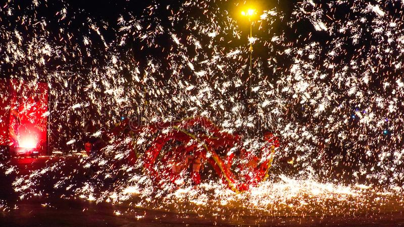 Tongliang Fire Dragon to celebrate Chinese Spring Festiva royalty free stock photo