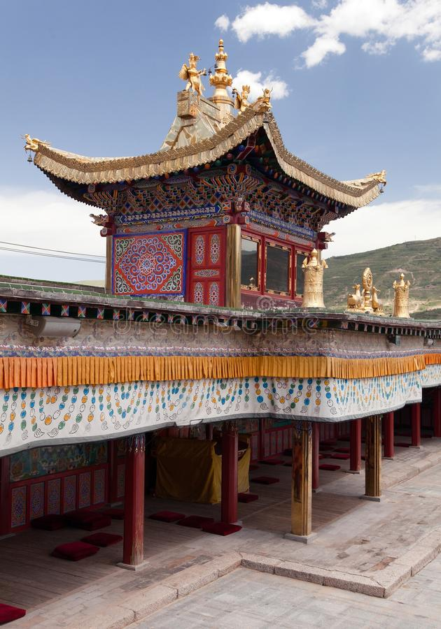 Tongren-Kloster oder Longwu-Kloster, China stockfotos