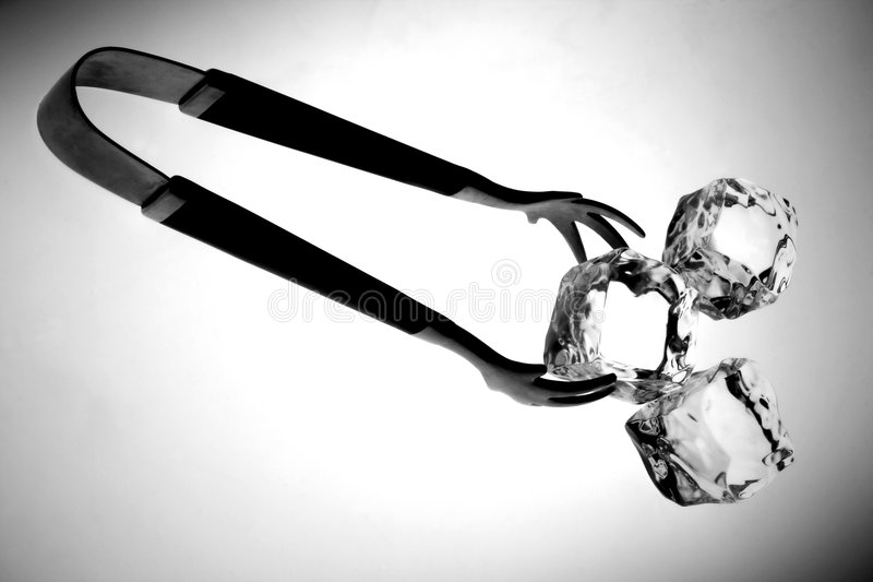 Tongs and Cubes stock photography