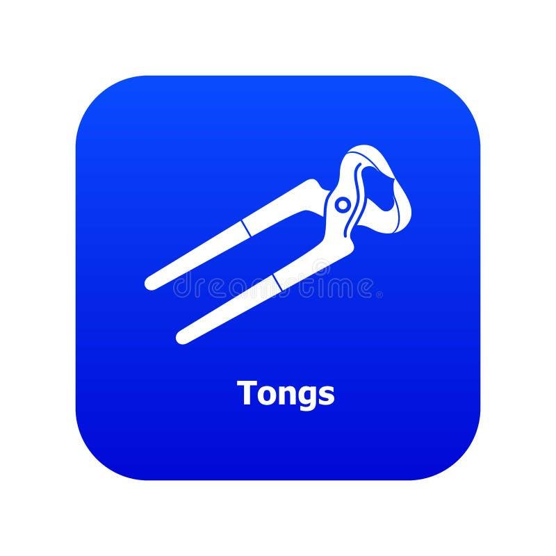 Tongs ikony błękita wektor ilustracji