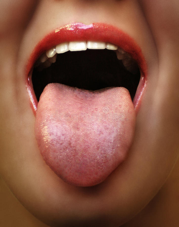 Rebel tongue stock photography