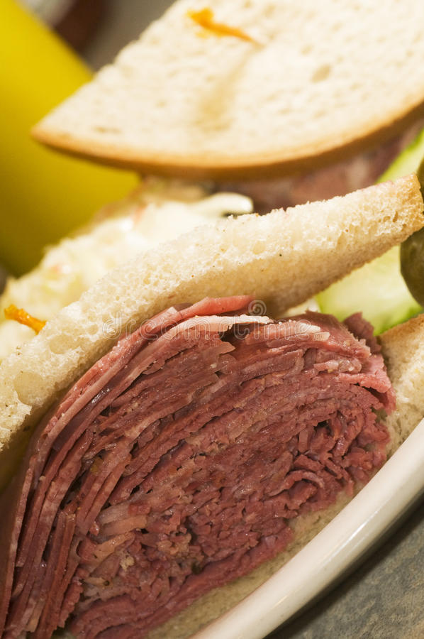 Download Tongue Corned Beef Sandwich Stock Photo - Image of kosher, bread: 13575908