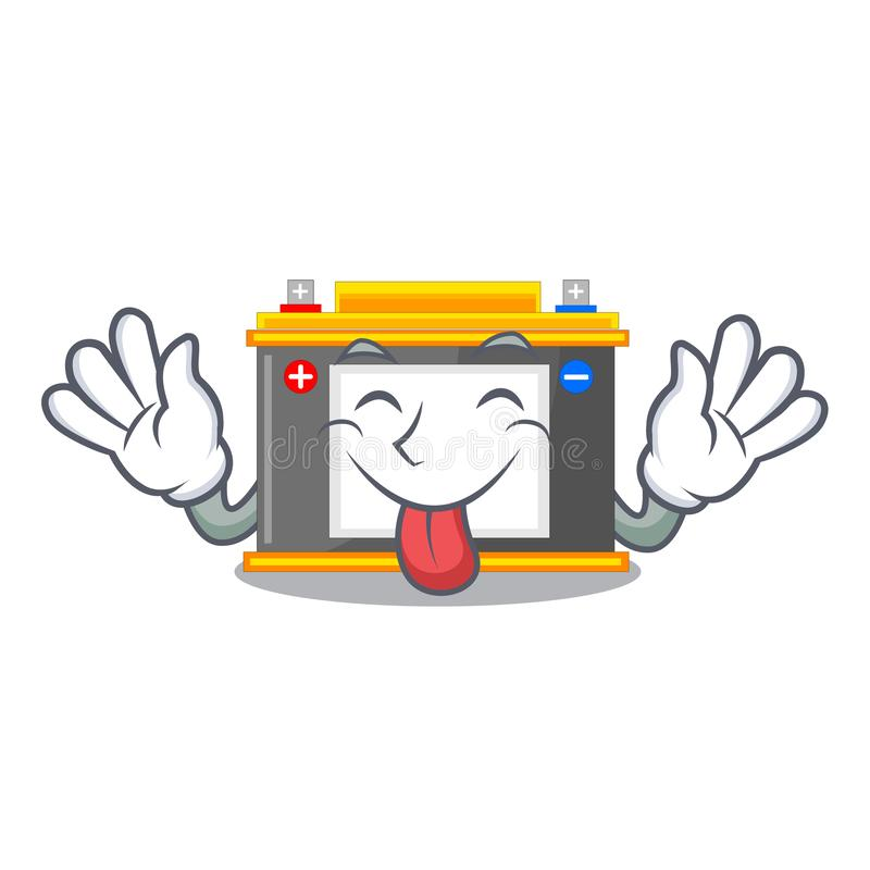 Tongue out miniature accomulator in the a shape royalty free illustration