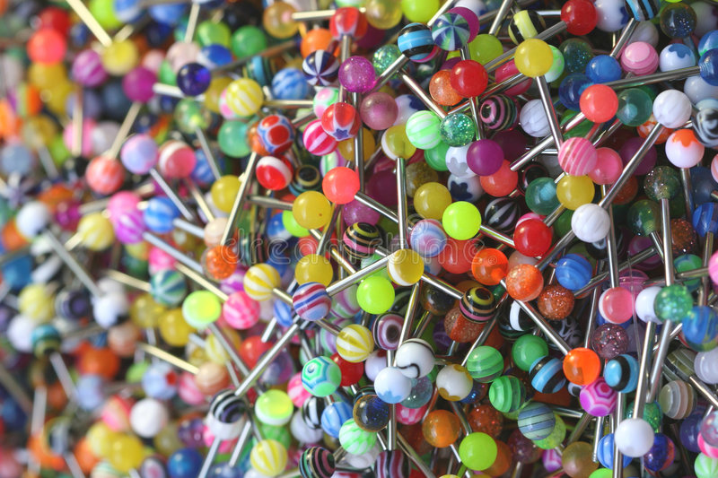 Tongue Rings 2 Royalty Free Stock Images
