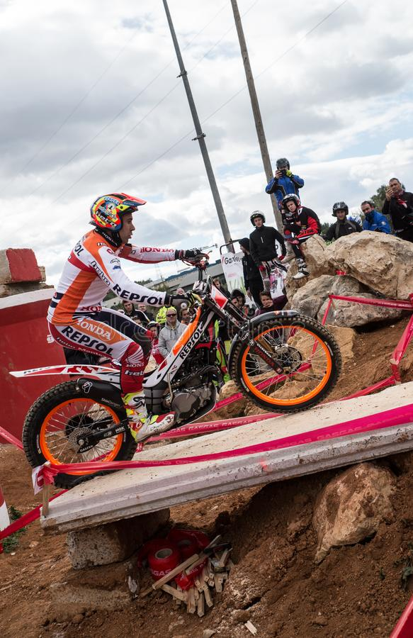 Toni Bou at Spanish National Trial Championship stock images