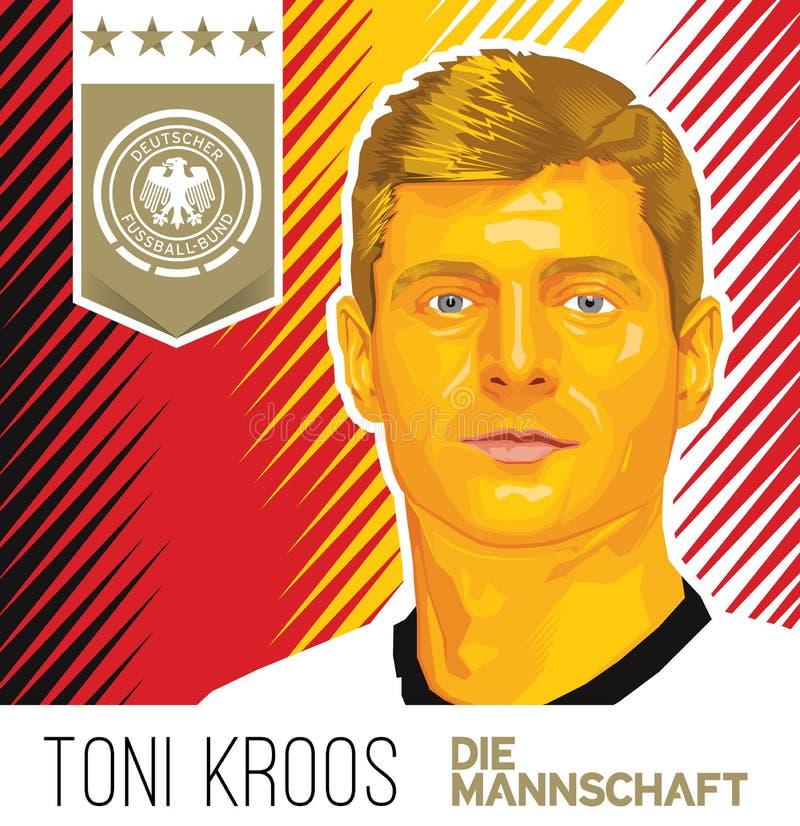 Toni Kroos German Football Star lizenzfreie stockfotos