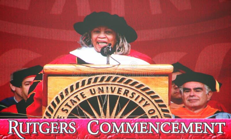 Toni Morrison, haut-parleur de commencement photographie stock