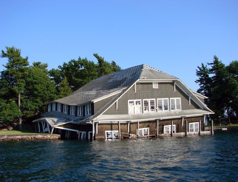 tonie wody powodzi w domu fotografia royalty free