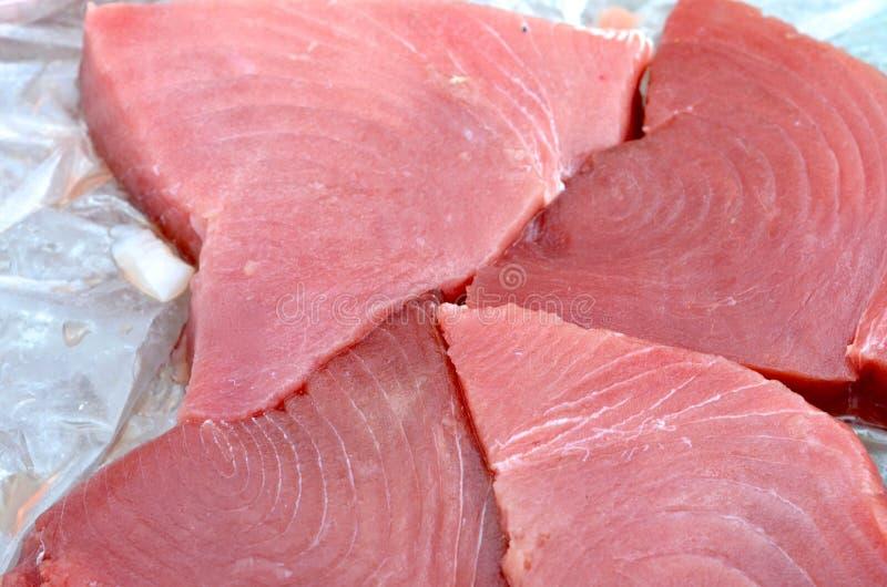Tonijnlapjes vlees royalty-vrije stock foto's