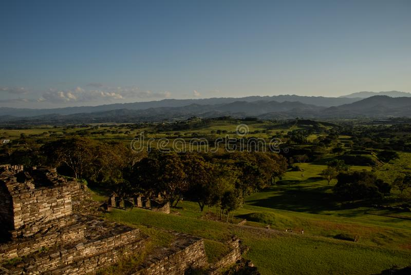 Toninà ¡,考古学站点破坏了玛雅人文明城市 免版税库存图片