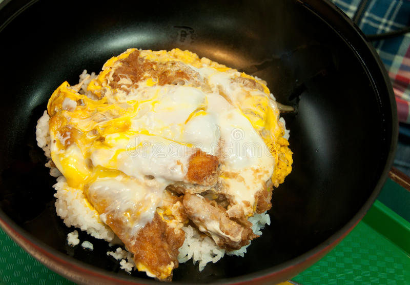 Download Tonkatsu with eggs stock image. Image of katsudon, meat - 32374477