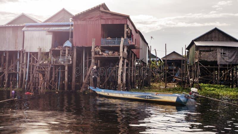 Tonle Aprosza jezioro zdjęcie stock