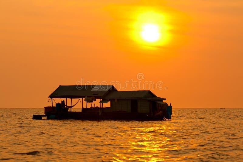 Tonle Aprosza jezioro, Kambodża zdjęcie royalty free
