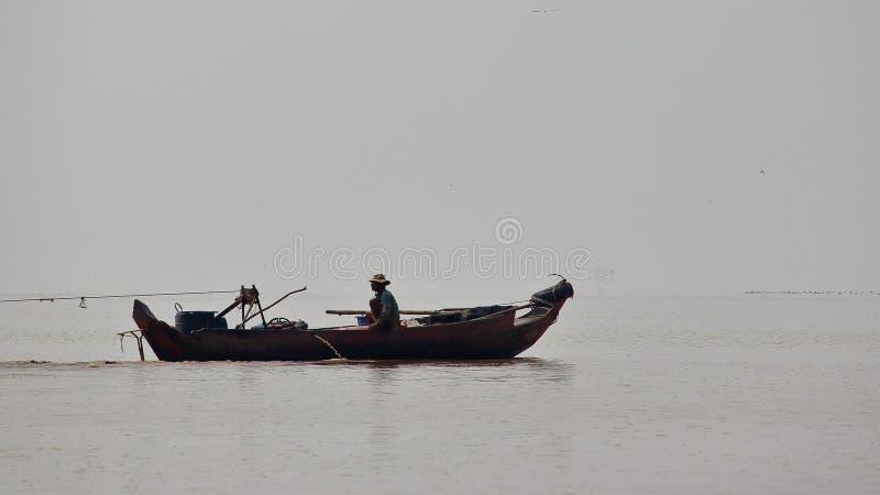 Tonle aprosza, Kambodża zdjęcie royalty free