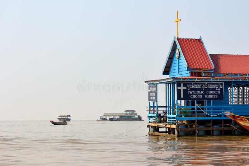 Tonle aprosza, Kambodża obrazy royalty free