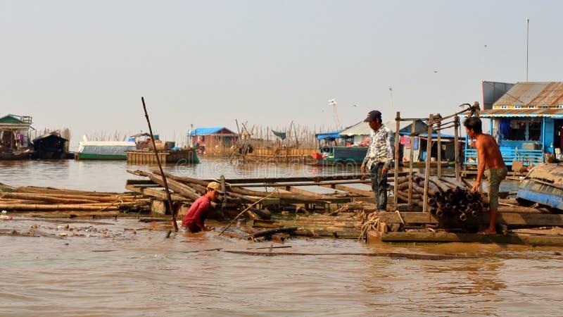 Tonle aprosza, Kambodża fotografia royalty free