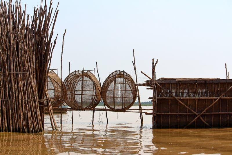 Tonle aprosza, Kambodża zdjęcia royalty free