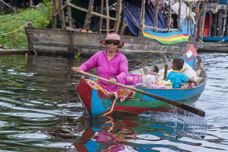 Tonle aproszy jezioro Kambodża fotografia royalty free