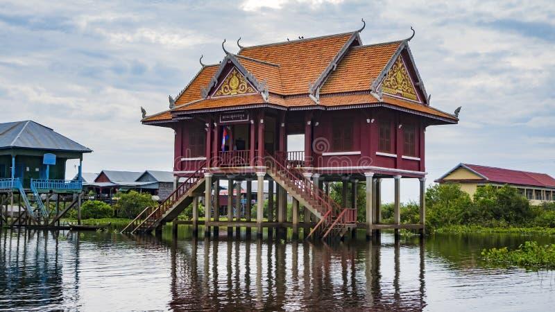 Tonle Sap湖,村庄 免版税图库摄影