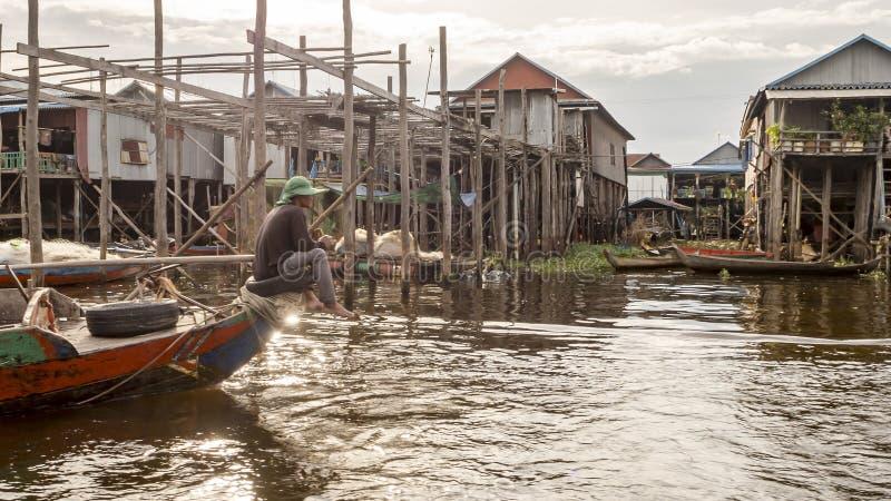 Tonle Sap湖 免版税图库摄影