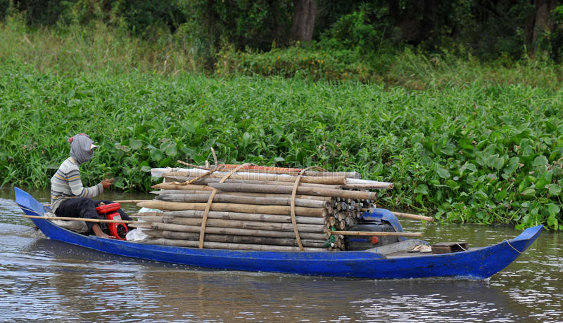 Download On The Tonle Sap In Cambodia Stock Image - Image: 16605297