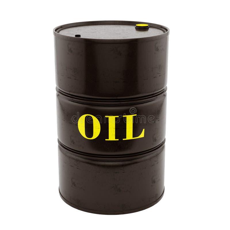 Tonneau à huile illustration stock