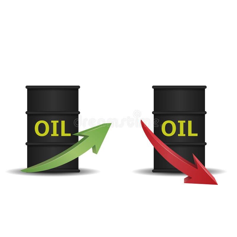 Tonneau à huile avec la flèche illustration stock