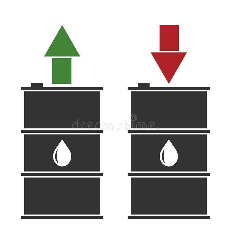 Tonneau à huile noir avec les flèches rouges et vertes illustration de vecteur