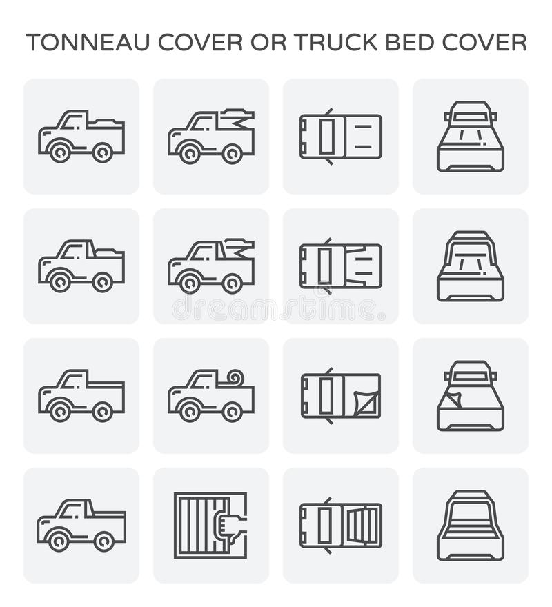 Tonneauräkningssymbol stock illustrationer