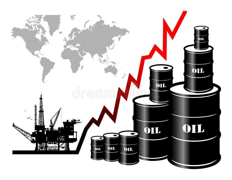 Tonneaux à huile illustration stock