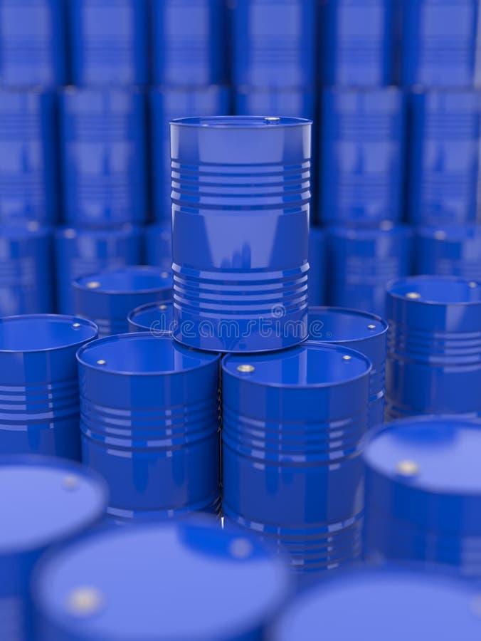 Tonneaux à huile. illustration de vecteur